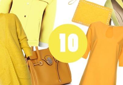 modny kolor - żółty