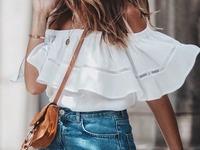 odkryte ramiona bluzka