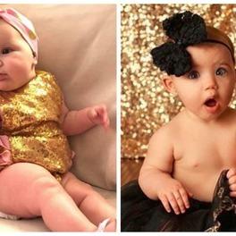 niemowlęta w sukienkach dwie dziewczynki