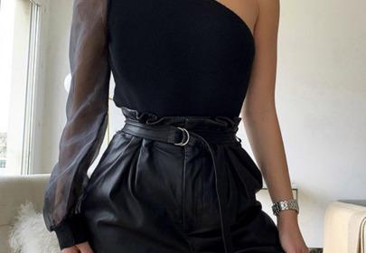 skórzane spodnie stylizacja