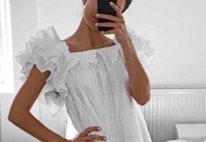 sukienka biała zara