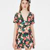 Kopertowa sukienka w kwiaty - Pull&Bear - 79 zł