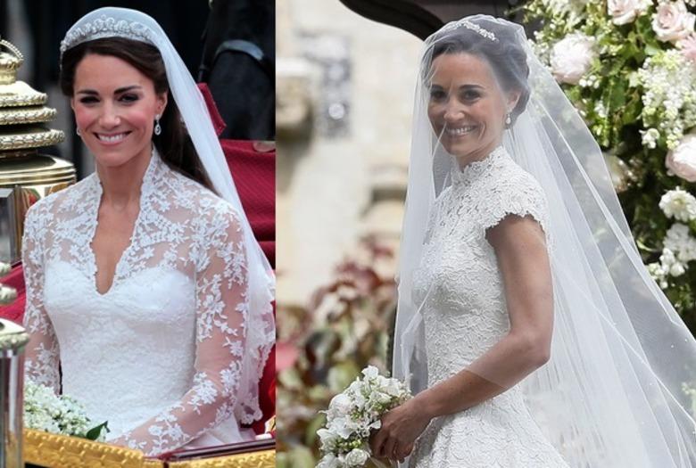 8401f23cfc Kate Middleton i Pippa Middleton w sukniach ślubnych