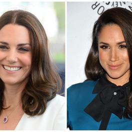 Meghan Markle Kate Middleton uśmiechnięta
