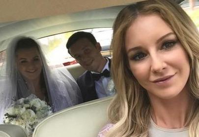 Urszula Radwańska na ślubie Agnieszki Radwańskiej i Dawida Celta
