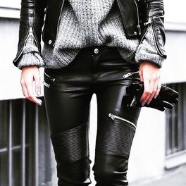 Z czym połączyć skórzane spodnie?