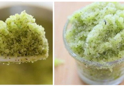 peeling z zielonej herbaty DIY