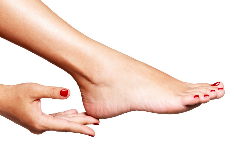 gładkie stopy pedicure