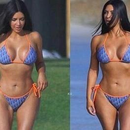Kim Kardashian w bikini
