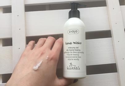 ziaja kozie mleko mleczny żel do mycia twarzy
