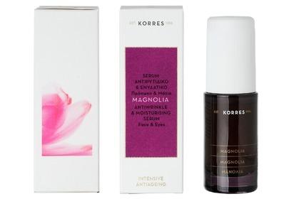 Przeciwzmarszczkowe i nawilżające serum do twarzy i oczu z wyciągiem z kory magnolii Korres