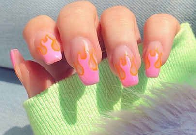flame nails